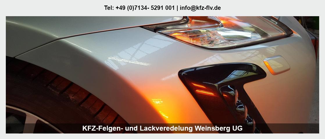 Fahrzeugaufbereitung Neckarsulm - KFZ-Felgen- und Lackveredelung Weinsberg UG: Parkdellen- und Hagelschadenreparatur, Felgenreparatur