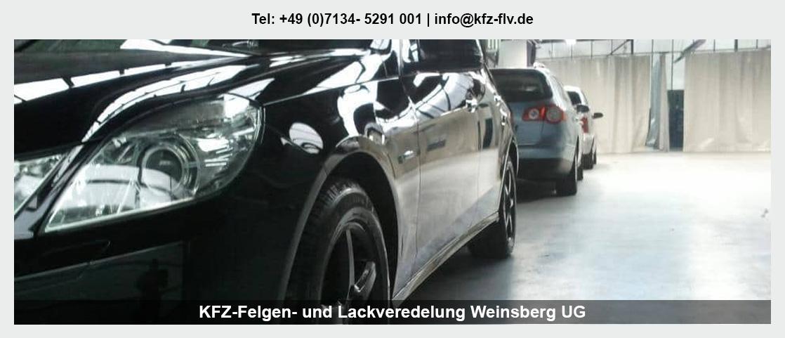 Fahrzeugaufbereitung Heilbronn - KFZ-Felgen- und Lackveredelung Weinsberg UG: Parkdellen- und Hagelschadenreparatur, Interieur-Reparatur